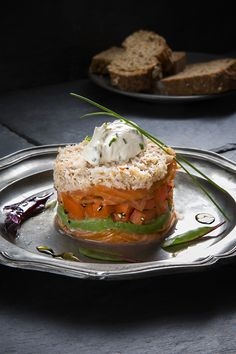 This Smoked Salmon & Crab Tian recipe is the ideal starter for a romantic meal for two, made using our Simply Better Oak & Hickory Smoked Salmon Strips and Simply Better Irish Crab Meat. Chef Recipes, Wine Recipes, Cooking Recipes, Salmon Terrine, Best Starters, Fishcakes, Romantic Meals, Crab Meat, Smoked Salmon