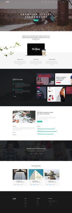 Luxer - Creative Multi-Purpose PSD Template #psd #agency #parallax • Download ➝ https://themeforest.net/item/luxer-creative-multipurpose-psd-template/18841648?ref=pxcr