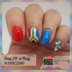 Day 28 - inspired by a flag #31dc2016 --------------------- - - - -  I chose the South African flag.  I am a very proud south African. Yes,  sure.. Our country needs some more spit and Polish -  but it is a work in progress.  And as long as we all start working together and letting love be our guide..we shall go from strength to strength 💕💕💕💕💕💕💕--------------------------- - - - - -  Used #LAGIRL - blackout ,  #essence - wanna be your sunshine ,  #sinfulcolors - why not,  #Nubar…