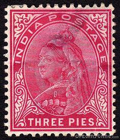 India Victorian Postage Stamp