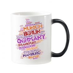 Germany City Name Map Style Illustration Pattern Morphing Heat Sensitive Changing Color Mug Cup Milk Coffee With Handles 350 ml #Mug #Germany #Cup #City #ChangingColorMug #Map #Beermug #Illustration #Coffeemug #Pattern #Coffeecup #Caneca #Teacup #Milkcup #CeramicMug #BirthdayGift