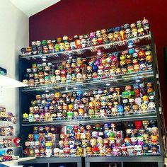 I love Funko! Funko Pop Shelves, Funko Pop Display, Toy Display, Funko Pop Toys, Funko Pop Vinyl, Vinyl Toys, Pop Vinyl Figures, Funko Pop Figures, Youtube Instagram