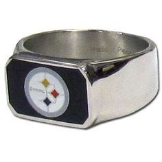 NFL Pittsburgh Steelers Steel Bottle Opener Ring Size 12 ** Click image to review more details.