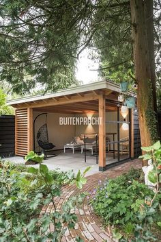 Pergola For Small Backyard Patio Gazebo, Outdoor Pergola, Outdoor Sheds, Outdoor Rooms, Backyard Patio, Backyard Landscaping, Outdoor Living, Pergola Plans, Shed Design