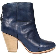 Rag & Bone Classic Newbury Booties in Painted Leather ($495) ❤ liked on Polyvore