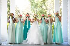 Beautiful bouquets with ribbons by Southern Event Planners, Memphis, Tennessee. Photo by Maddie Mooree.