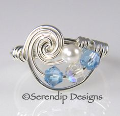 Mothers Ring Grandmothers Ring Galaxy Ring by SerendipDesignsJewel, $28.00