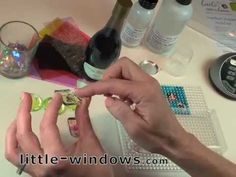 Little Windows - how to make Dichro Resin Jewelry-it looks very much like dichroic glass pendants, but it's more versatile!