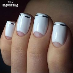 Reverse White French Nails ~Маникюр