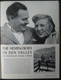 Robert Capa Life magazine 6th January 1941 Ernest Hemingway / Martha Gellhorn  - Slightly out of Focus