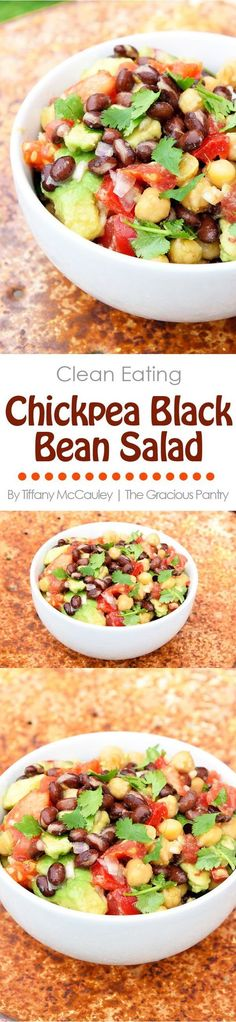 Clean Eating Recipes | Chickpea Black Bean Salad | Bean Salad | Vegan | Plant Based #CleanEating #Vegan