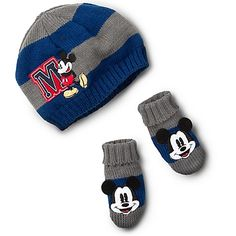 Mickey Mouse Hat and Gloves Set for Baby