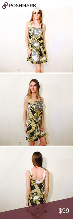 """WALTER ANTHROPOLOGIE ABSTRACT DRESS #672 WALTER, Size 0, yellow gray top, sleeveless, lined.  CONDITION: EUC No issues.  CHEST: 30"""" WAIST: 34"""" LENGTH: 34"""" INSEAM:  *All measurements taken while item is laid flat (doubled when necessary) and measured across the front  MATERIAL: 100% Polyester  STRETCH: none INSTAGRAM @ORNAMENTALSTONE 🚫Trading Anthropologie Dresses Mini"""