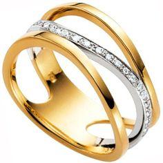 Dreambase Damen-Ring gelb weiß kombiniert 18 Karat (750) Bicolor 22 Diamant 0.14 ct. 54 (17.2) von Dreambase, http://www.amazon.de/dp/B00AB3RUVS/ref=cm_sw_r_pi_dp_w4W-qb1DKYJV4