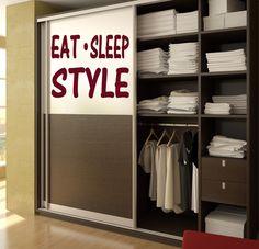 Eat Sleep Style Kids Room Children Stylish Wall Art Sticker Decal 10625