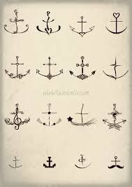 dainty anchor tattoo - Google Search