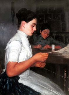 High Quality Fine Art Prints on Canvas - 12 x 16 inch Impressionism Portraits, People - Spinning Girl - by Ferenc Paczka Odsan Gallery http://www.amazon.com/dp/B00NRVJ4NI/ref=cm_sw_r_pi_dp_l9qlwb132ME22