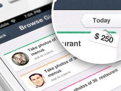 Justalab: iPhone app design   List UI,UX interface