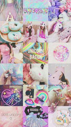 Unicornios Wallpaper, Wallpaper Backgrounds, Aesthetic Colors, Aesthetic Collage, Unicorn Art, Rainbow Unicorn, Aesthetic Pastel Wallpaper, Aesthetic Wallpapers, Unicorn Wallpaper Cute