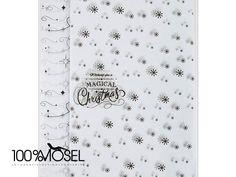 """Papermania Tissue paper (20pk) - Christmas 20 Bogen  Seidenpapier 50 x 66 cm in 2 verschiedenen Designs schwarz auf weiß, weihnachtlich gemustert.  Aufschrift: """"Wishing you a magical..."""