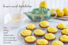 Delicious Lemon Curd Tartelettes using speculoos cookies and homemade lemon curd.