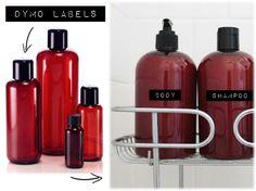Diy: Dymo Shampoo Bottles