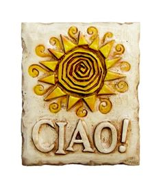 Ciao Italian Decor Wall Plaque *** You can get additional details at the image link. (This is an affiliate link) #Plaques