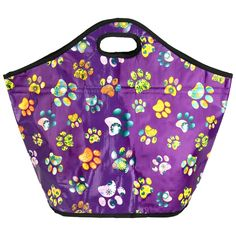 Flourishes, flowers, and hearts in the beloved paw print means there's never a dull moment as you help keep the environment clean and your groceries fresh. The woven bags are amply sized and have foam insulation to keep your food cold or hot on the
