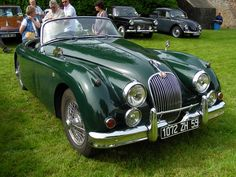 British racing green Jaguar XK 150