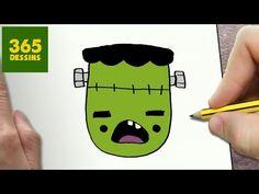 COMMENT DESSINER FANTÔME KAWAII ÉTAPE PAR ÉTAPE – Dessins kawaii facile - YouTube Frankenstein, Kawaii Halloween, Kawaii Drawings, Rock Art, Harry Potter, Snoopy, Stickers, Manga, Logos