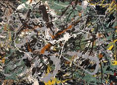 Collection Online | Jackson Pollock. Untitled (Green Silver). ca. 1949 - Guggenheim Museum