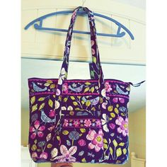Vera Bradley Handbag! This bag is super cute and is an authentic Vera Bradley bag. Notebooks and a laptop fits inside perfectly! Beautiful pattern. Vera Bradley Bags Shoulder Bags