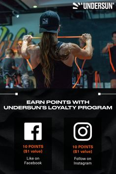 With Undersun's Rewards Program, you can save money and collect points to redeem rewards! Get 10 points ($1 value) when you like/follow our social media pages today! Check out our social media pages and give us a like/follow for more amazing workout tips, workout routines and more. Fitness Brand, Fitness Tips, Reward System, Anytime Fitness, Social Media Pages, Outdoor Workouts, Workout Tips, Workout Routines, Facebook Instagram