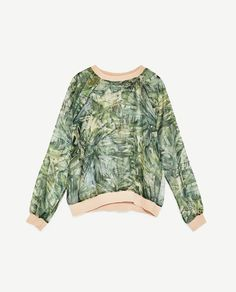 f3143b3d50 Image 8 of PRINTED ORGANZA TOP WITH PIPING from Zara Blouses