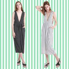 @fyvfyv SS15 stripe deep v jumpsuit just arrived at FYVFYV #stripe #ootd #ss15 #trend #outfitoftheday #fashion #style #followme #fyvfyv