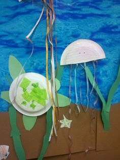 jellyfish and sea turtle art project