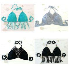 Gelang Bikini Crochet and Halter Top