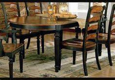 distressed black kitchen table