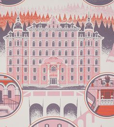 Grand Budapest Hotel Diagram Art Print by Familytree on Scoutmob