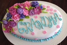 Floral Oval cake- Gluten free