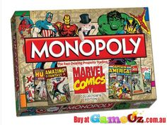 The+worlds+most+popular+boardgame+has+teamed+up+with+the+worlds+coolest+superheroes+in+thisMarvel+Comics+Collectors+Edition+Monopoly+Board+Game+by+Hasbro  For+2-6+players  Ages+8+&+up.