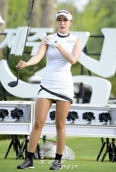Mens Golf Fashion, Sport Fashion, Fashion Outfits, Sexy Golf, Swimming Sport, Great Women, Asia Girl, Golf Outfit, Ladies Golf