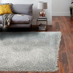 Revival Shaggy Rugs in quarry feature a super soft, 7cm deep, luxurious pile