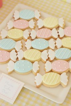 Bonbon sugar cookies. Soft and pretty.