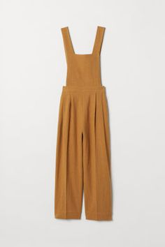 H&M Linen-blend Bib Overalls - Beige Overalls Outfit, Bib Overalls, Dungarees, Flare, Pants For Women, Clothes For Women, Fashion Company, Look Cool, Neue Trends