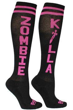 The Sox Box | ZOMBIE KILLA Socks- Black/Pink - Apparel & Gear/Accessories;Apparel & Gear/Socks;Apparel & Gear/Men's Apparel/Men's Socks;Apparel & Gear/Compression Gear/Compression Socks;Apparel & Gear/Women's Apparel/Women's Socks