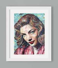 LAUREN BACALL // 60 x 80 cm // collage paper on plywood // with applications of genuine gold and silver leaves // ©philippe patricio 2018 // all rights reserved Paper Collage Art, Collage Artwork, Collage Artists, Paper Art, Cut Paper, Meet The Artist, New Art, Original Artwork, Abstract Art