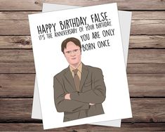 Happy Birthday cards for The Office tv show fans. Send birthday wishes with our Dwight Schrute birthday Card. The perfect gift for any The Office fan. Diy Birthday Card For Boyfriend, Best Friend Birthday Cards, Creative Birthday Cards, 18th Birthday Cards, Birthday Card Sayings, Homemade Birthday Cards, Bday Cards, Funny Birthday Cards, Birthday Wishes