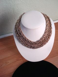 Vintage 1960s Chain Necklace Multi Strand 2013267 by bycinbyhand, $30.00