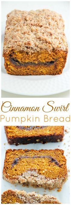 Cinnamon Swirl Pumpkin Bread - so good with a cup of coffee!